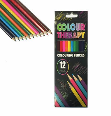 24 x ADULT COLOURING PENCILS FOR ADULT/CHILD COLOUR THERAPY STRESS RELIEF 5