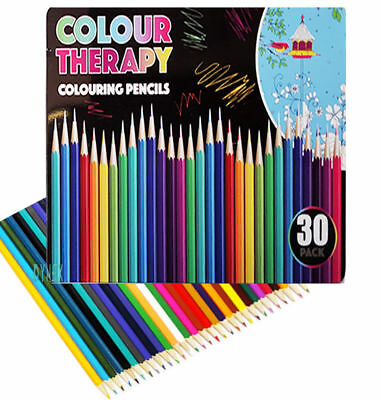 30 Colouring Pencils  Artists Quality Colour Therapy in Tin Coloured 2