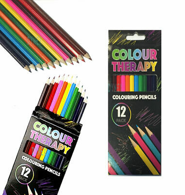 24 x ADULT COLOURING PENCILS FOR ADULT/CHILD COLOUR THERAPY STRESS RELIEF 6