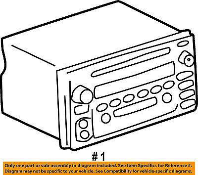 Toyota Oem 04 05 Rav4 Stereo Audio Radio Dash Head Unit 861202b761