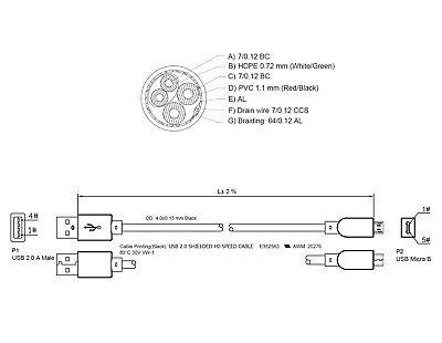 2x 5m Micro USB Kabel Ladekabel Datenkabel Tablet Handy Samsung Huawei PS4 3