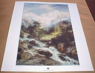 "In The Teton Range by Thomas Moran 18/"" x 20/"" Western Art Print"