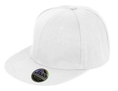 Snapback Baseball Cap Plain Classic Retro Hip Hop Adjustable Flat Peak Hat 7