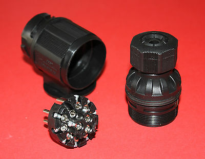 "13 Pin/Pole Trailer Plug Euro Type Black Plastic ""Top Quality"" Caravans/Trailers"