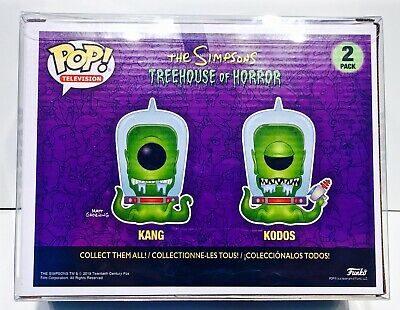1 Box Protector For Funko Pop! KANG AND KODOS SIMPSONS 2 pack! New Display Cases 3