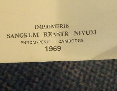 1969 Phnom Penn Cambodia La Troupe De Folklore L'Universite Royale program