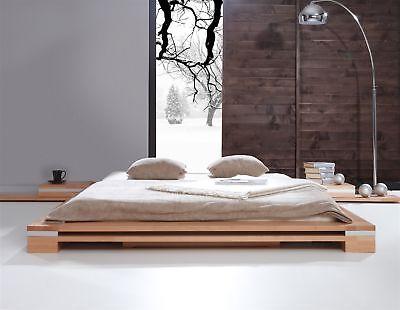 Massivholzbett Bett Schlafzimmerbett Tokyo Eiche Massiv