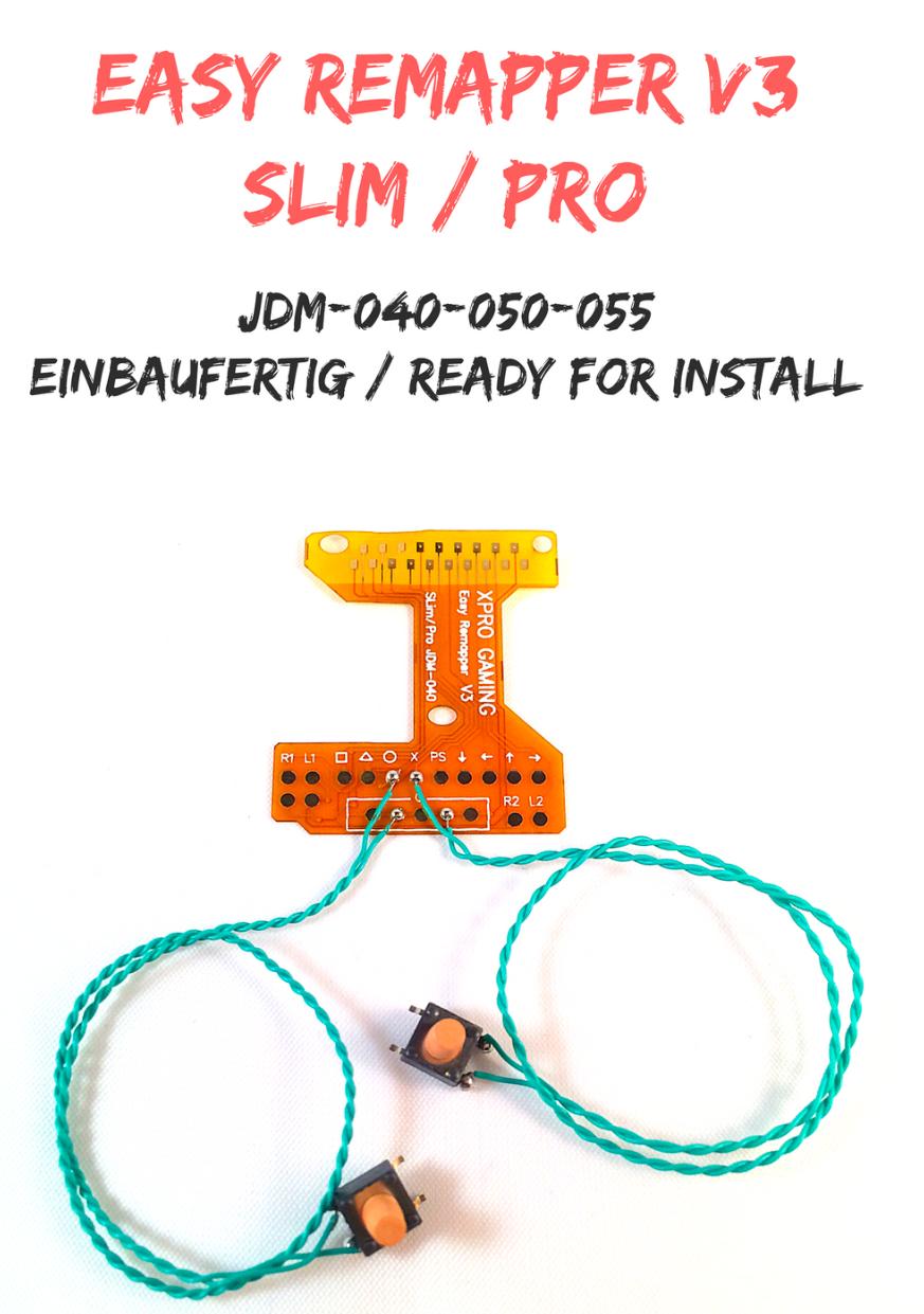 Ps4 Controller Easy Remapper V3 FERTIG VERLÖTET SLIM PRO Mod Chip JDM-040-50-55
