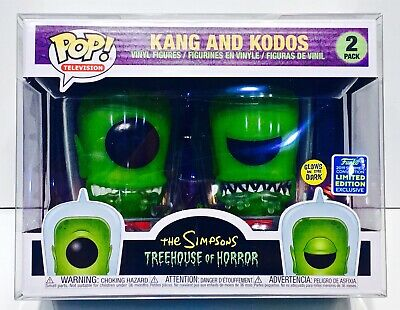 1 Box Protector For Funko Pop! KANG AND KODOS SIMPSONS 2 pack! New Display Cases 2