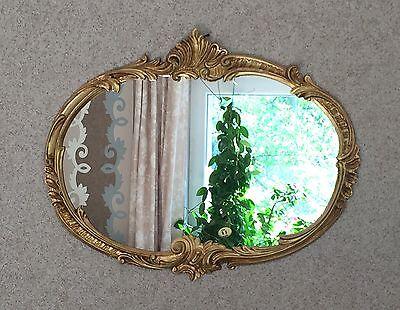 wandspiegel barock oval antik gold 52x42 badspiegel vintage ovaler spiegel eur 49 95 picclick de. Black Bedroom Furniture Sets. Home Design Ideas