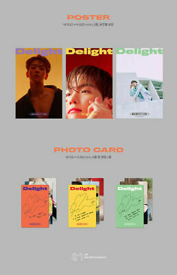 BAEKHYUN DELIGHT Album 3CD+POSTER+3 Photo Book+9 Card+3 F.Poster+3 Sticker+GIFT 11