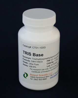 Tris Base, Ultrapure, for Laboratory Use (100g-25kg)