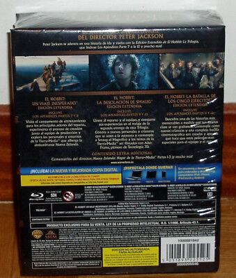 El Hobbit La Trilogia Edicion Extendida 9 Blu-Ray Nuevo Precintado (Sin Abrir) 2