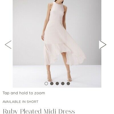 COAST NEW Ivory /& Black Floral Print Twill Skirt Midi Dress with Belt 6 to 18