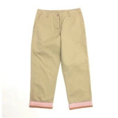 Sanctuary Women's Size 4 Cotton Beige Chinos Cropped Capri Pants 2