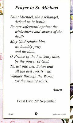 Saint Charles Borromeo Laminiert Heilig Karte Sich Gebet St