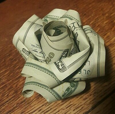 100 origami money rose in display cube 12500 picclick