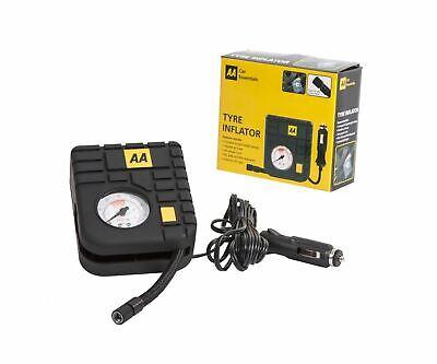 AA 12V Car Tyre Air Compressor Inflator LED Pump Pressure Gauge Cigarette Socket 5