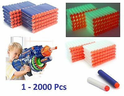 1-2000 Pcs NERF Gun Refill Soft Darts Bullets Toy Gun N -Strike Round Head Blast 2