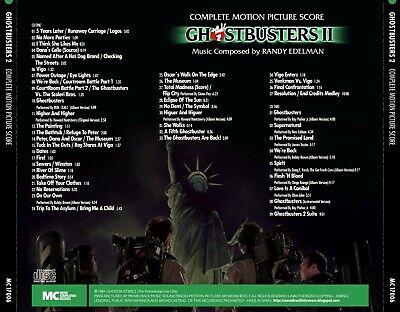 Ghostbusters 2 Complete Score & Songs 2CD Randy Edelman 3