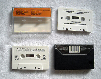 4 Hawaiian Cassette Tapes Pick a Hit Hawaii & Slack Key Volume II Don Ho Aloha 6