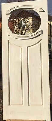 oval 1920 s style door reproduction door remade in reclaimed pine 6