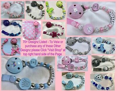 🐘PERSONALISED DUMMY CLIPS 🐘 ELEPHANT 🐘12 Letters 🐘 BUY 2 GET 1 FREE ** 4
