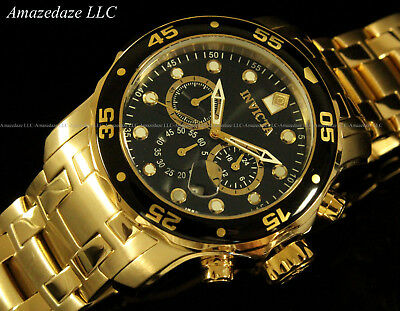 NEW Invicta Men's Pro Diver Scuba Chronograph Stainless Steel Black Dial Watch!! 2