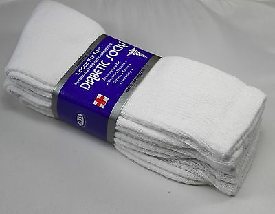 3,6 or 12 dozen Pairs Diabetic Crew Circulatory Socks Health Mens Cotton 9 10-15 9