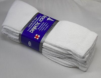 3,6 or 12 dozen Pairs Diabetic Crew Circulatory Socks Health Mens Cotton 9 10-15 9