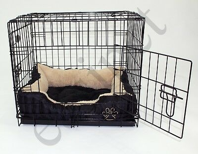 Dog Cage with Bed Training Metal Crate Puppy Pet Cat Carrier XS S M L XL XXL 5