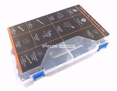 129 Pc Jig Fixture T Track Hardware 5/16 18 Knobs, T Bolts, Inserts 129PJHK-5/16