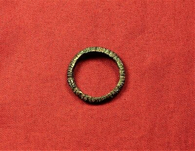 Ancient Celtic Bronze Decorated Ring 3