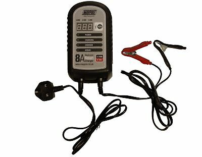 Maypole 7428 8A 12V Car Bike Caravan Van Electronic Smart Battery Charger 2
