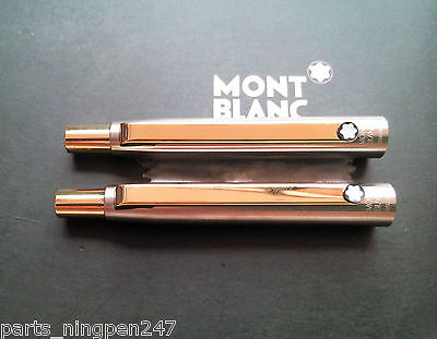 2X Montblanc Slim Line Ballpoint No.2938 Stainless Steel & Gold Cap Part Pen NOS 2