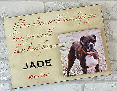 Personalised Handcrafted Wooden Dog Cat Pet Memorial Plaque Keepsake Memory Gift 9