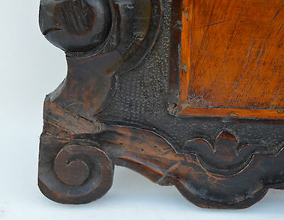 French Antique Gothic Hand Carved Walnut Wooden Pediment - Blazon 17th.c 3 • CAD $437.72