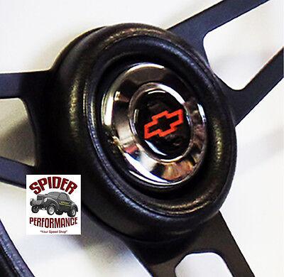 """1953-1954 Chevy Bel Air 150 210 steering wheel BOWTIE 13 3/4"""" BLACK SPOKE 3"""