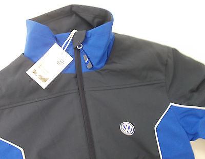 womens blue grey soft shell jacket coat genuine vw. Black Bedroom Furniture Sets. Home Design Ideas