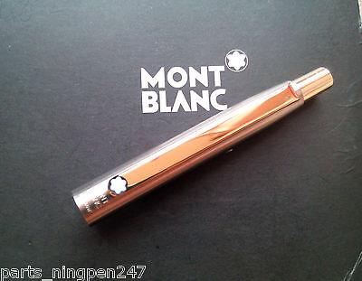 1X Montblanc Slim Line Ballpoint No.2938 Stainless Steel & Gold Cap Part Pen NOS