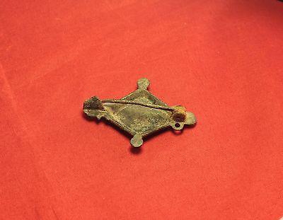 Fine Ancient Roman Enamelled Fibula or Brooch, 2. Century 3