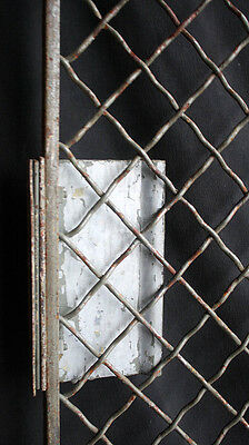 "32""x79"" Vintage Old Steel Metal Fence Gate Door Panel Grille Industrial Factory 4"
