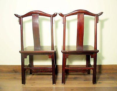 Antique Chinese High Back Chairs (Pair) (5767), Circa 1800-1849 11