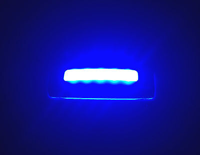 MARINE BOAT 2PCS TRAILER RV TRUCK SS304 COURTESY LED LIGHT BLUE LIGHT TOP IP67