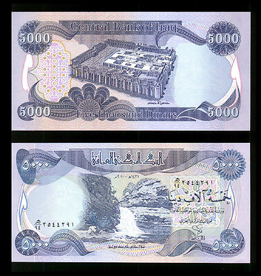 New Iraqi Dinar 5 000 Plus A Free 20 Vietnam Dong With Purchase