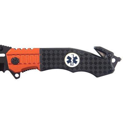 """8.5"""" TAC FORCE EMT RESCUE SPRING ASSISTED TACTICAL POCKET KNIFE Blade Open 5"""