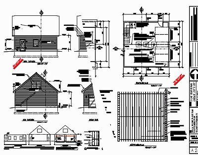 GARAGE PLANS BLUEPRINTS 28 FT  X  28FT WITH DORMERS