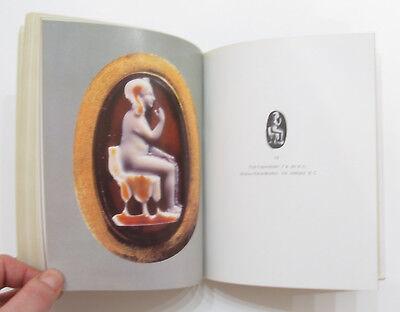 Russian Book Antique Cameo Art Old Miniature Portrait Stone Vintage Rare VTG