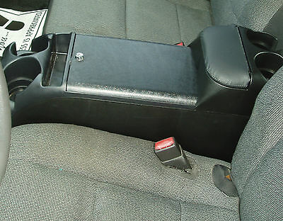 P Black Center Console Crown Victoria Police With Tip Up Upholstered Armrest