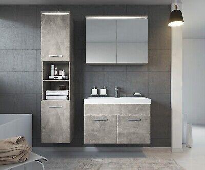 Badezimmer Badmobel Paso Led 80 Cm Waschbecken Beton Unterschrank Waschtisch Eur 399 00 Picclick De